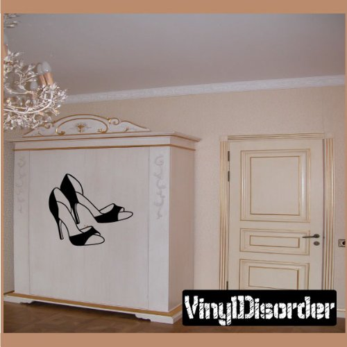 Vinyl Disorder fashionmc3006Schuhe High Heels Fashion Wand/Vinyl/Auto Aufkleber, Schwarz, 91,4cm (Heels Wand)