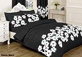 JaaZ Textile Limited Bettwäsche/Spiele-Bettdecke/Bettwäsche-Bettbezug + Kissenbezüge (Kissenbezügen) oder kaufen Sie passende Vorhänge. Emma schwarz (doppelt)