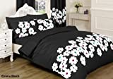 ||jaaz Textile|| Emma schwarz Double Bedruckte Bettwäsche Bettbezug-Set (Bettbezug + 2Kissenbezügen) Vergleich