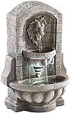 infactory Wasserbrunnen: Beleuchteter Zimmerbrunnen Löwenkopf mit LED und Pumpe (Zimmerbrunnen mit Beleuchtungen)