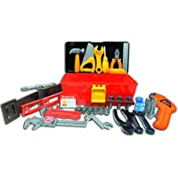 Deluxe Toy Tool Set For Toddlers TG668 – Fun Tool Box Kit For Kids With 40 Pieces Including Battery Powered Drill By ThinkGizmos (Trademark Protected)