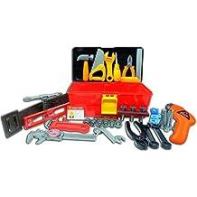 Set Deluxe Attrezzi per Bambini TG668 – Scatola Set Attrezzi Kit per Bambini con 40 Pezzi incluso il Trapano alimentato da batterie creato da ThinkGizmos (marchio protetto)