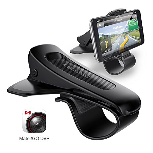Handyhalterung Auto, Mate2GO HUD Halterung mit kostenlosen App zu aktualisieren Telefon wird Autokamera, Haltbares Dashboard für iPhone X/8/8 Plus, Samsung, Huawei, 3, 5-6, 5 Zoll Smartphones