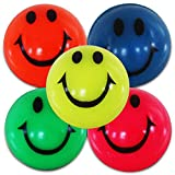 6 x Flummi Smiley Spring Ball Ballspiel Hüpf Ball Gummiball 38 mm