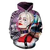 LELEHoodies 3D Digital Printing Hoodie Suicide Squad Death Squad Thin Section Lässige Pullover