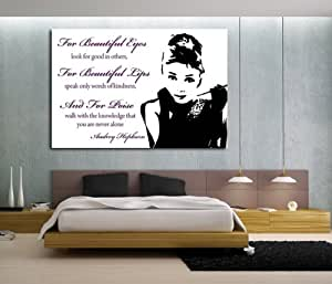 art fever leinwand druck audrey hepburn zitate pink leinwand druck fertig zum aufh ngen. Black Bedroom Furniture Sets. Home Design Ideas
