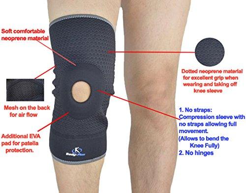 Body-Plus Kniebandasche, EVA, zum Überziehen, mit Öffnung an der Kniescheibe (Knapp Umschlag)
