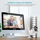 ANNKE Überwachungskamera Set mit Monitor 1080P 4CH 12 Zoll 2.0Megapixel Funk NVR Überwachungssystem mit 4 x 1080P WLAN IP Kamera Vorinstalliert 1TB Festplatte Videoüberwachungssystem für Innen Außen - 3