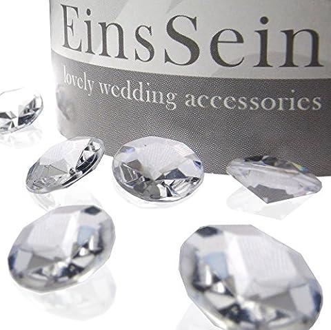 100x FUNKELNDE Diamantkristalle 12mm klar EinsSein® Dekoration Dekosteine Diamanten FUNKELNDE Diamantkristalle Streudeko Konfetti Tischdeko