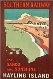 Poster 100 x 150 cm: Hayling Island, Plakatwerbung Southern Railway von Margaret Macdonald Mackintosh/Bridgeman Images - Hochwertiger Kunstdruck, Neues Kunstposter