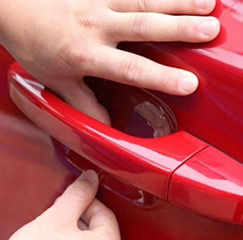 4x Stück Lackschutzfolie gegen Kratzer für Auto-Türgriffe Griffschalen Griffmulden und Türgriffmulden Aufkleber Sticker transparent - für jedes Fahrzeug passend INION®
