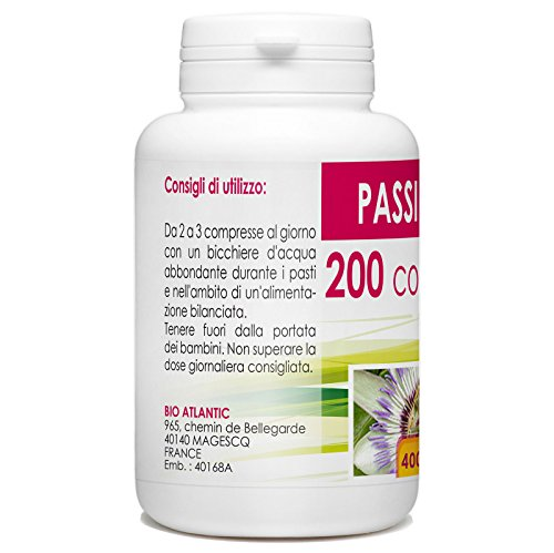 51mKs8fxTzL - passiflora - Box di 200 compresse da 400 mg