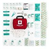 Kit di primo soccorso di 90 pezzi con ghiaccio pronto uso, kit lavaggio oculare e coperta d