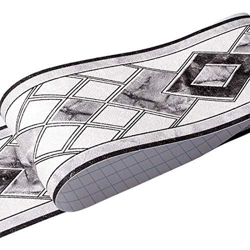 HBOS Moderne Geometrie Muster Tapete Bordüre Aufkleber Selbstklebende Entfernbar Zuhause Aufkleber...