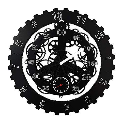 Vinteen orologio da parete circolare di grandi dimensioni, orologio da polso, orologio da tavolo, orologio europeo, orologio da tavolo, orologio da polso e orologio da polso (color : black)