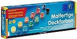 Nerchau 1048886 Malfertige Deckfarben (13 Farben à 18 ml, abwaschbar, für Papier, Holz, Keramik, Stein) -