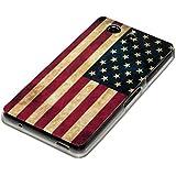 deinPhone Sony Xperia Z3 Compact SILIKON CASE Hülle Retro Flagge USA