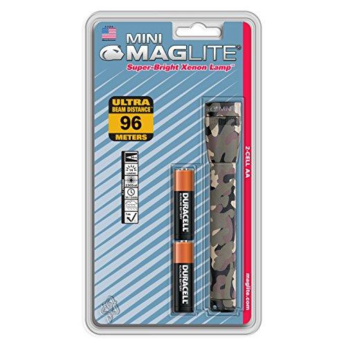 Maglite Mini Mag Taschenlampe, Blisterverpackung, blau Mehrfarbig Camouflage NA (Light Cap Gen 2)