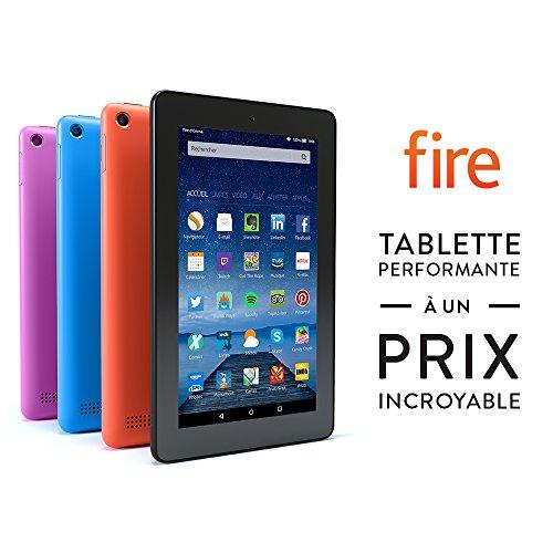 Tablette Fire, écran 7' (17,7 cm), Wi-Fi, 8 Go (Noir) - avec offres spéciales