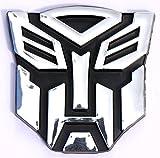 Automotive Best Deals - Sluggish Automotive Accessories Transformers 3D Pvc Universal Silver Car Sticker With Tape (Silver)
