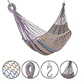 #9: Patio Hammocks The Classic Cotton Rope Swing (White)