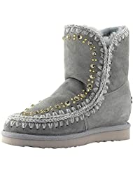 MOU Inner Wedge With Studs And Crystals Sag, bota para mujer Mou