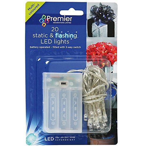 Qualità Premium 20Natale/Natale LED alimentato a batteria (ideale per scrivanie, piccoli alberi e Windows). Free Internet commercianti Deodorante per auto.