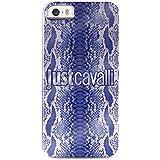 Puro JCIPC5PYTHON5 Just Cavalli Cover für Apple iPhone 5/5S Crystal Python blau