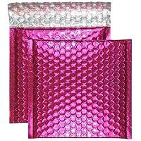 Purely Packaging - Sobres acolchados (CD, 165 x 165 mm, cierre autoadhesivo, 100 unidades), color rosa