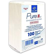 LCH - Pure N40-075 - 100 Compresses en non tissée/non Stérile - 7,5 x 7,5 cm