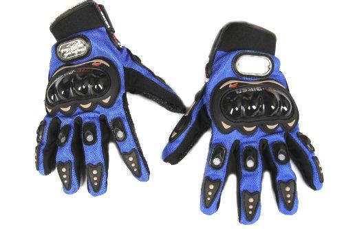 Paio guanti sportivi per moto ciclismo mtb bmx azzurro