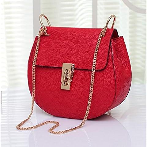 La signora gnocchi di moda tipo di catena borsa diagonale pacchetto borsa banchetto (24 * 22 * ??10cm) , red