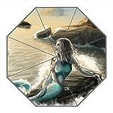 Kundenspezifischer faltbarer Umbrella Diy personifizierter Meerjungfrau Entwurfs-beweglicher Reise-Regenschirm f¨¹r Sonne und Regen