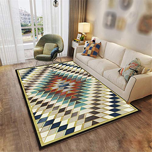 Tapis Salons Grand rectangulaire coloré Carpettes Runners Moderne Chambre Géométrique Pas Cher Chambres Tapis d'enfants Doux Tapis Salon Sall