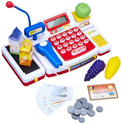 Simba 104525700 - Supermarktkasse mit Scanner Kinderspiel - Register Taste Cash