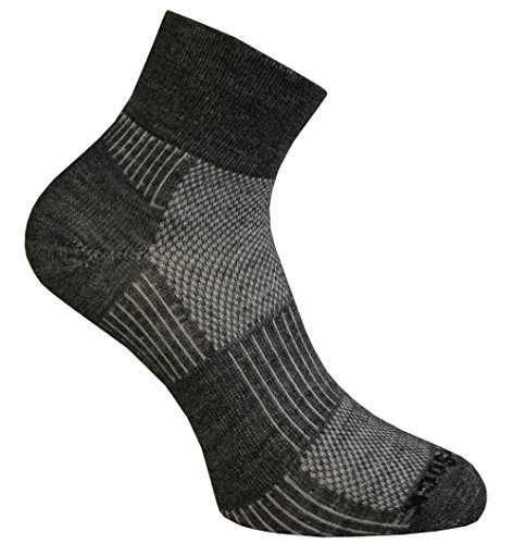 Wrightsock Merino Coolmesh II Quarter Socke Füßlinge Sportsocken (Wrightsock Damen Socken)