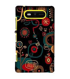 EPICCASE Tell Me Mobile Back Case Cover For Nokia Lumia 820 (Designer Case)