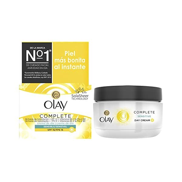 Crema de día Hidratante 3 en 1 Olay Complete con SPF15 (pieles sensibles) – 50ml