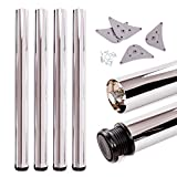 Juego de patas extensibles de mesa | Sossai® Premium TBCH | Óptica de cromo | Altura regulable 820 mm + 20 mm | Set de 4 unidades