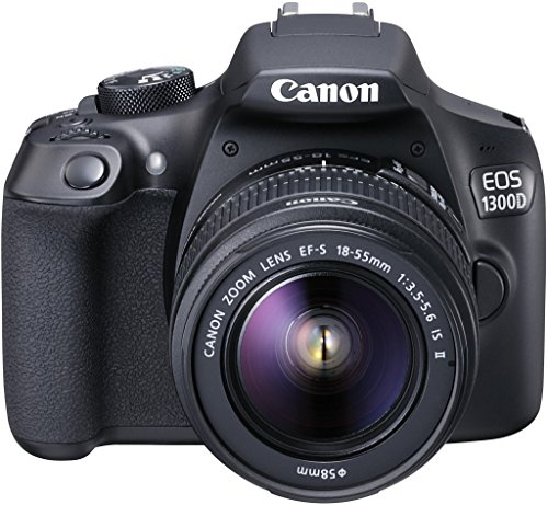 Canon EOS 1300d/Rebel T6/Kiss X80 18 – 55/3.5 – 5.6 EF-S IS II – Cámara Digital (18.7 MP