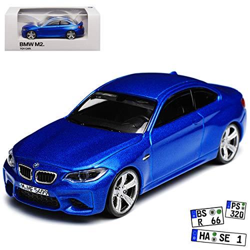 Unbekannt B-M-W 2er F22 M2 Coupe Blau Metallic Ab 2013 1/64 Modellcarsonline Modell Auto (Miniatur 1 64)