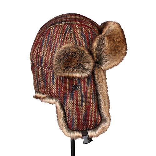 Nosterappou Personnalité décontractée pour hommes et femmes, protège-oreilles d'hiver universel, chapeau d'hiver, chapeau en coton, chapeau de ski pour dame, casque parfait, intérieur chaud et confort