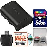 Canon LP-E6N Lithium-Ion Rechargeable Camera Batteries Pack With 64 GB Card+ Kit For EOS 6D