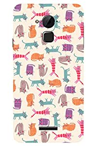 AMAN Cats 3D Back Cover for Coolpad Note 3 Plus