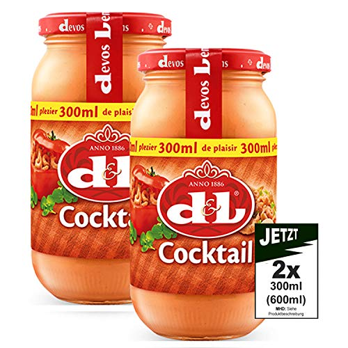 Devos Lemmens D & L Cocktail Sauce 2x 300ml (600ml) - ideal zu Geflügel