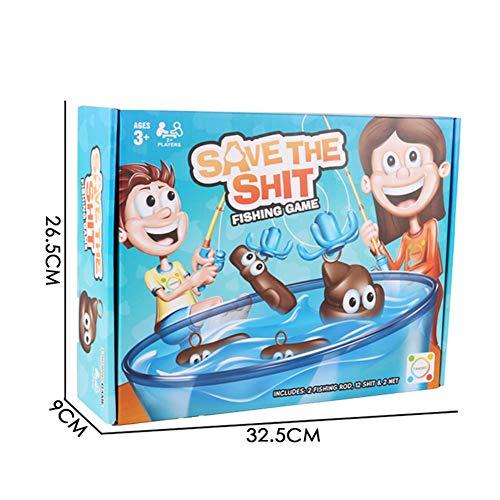 LCF Gygn Prima Infanzia Gioco da Tavolo per Bambini Grande Pesca Gioco d'Acqua Divertimento Giocattolo Pazzo di Pesca Famiglia interattiva Pesca Cacca Puzzle Game