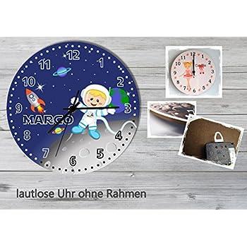 Kinder Wanduhr Lernuhr Trecker Kinderzimmer Uhr Bauernhof Traktor kein Ticken