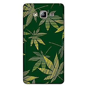 CrazyInk Premium 3D Back Cover for Samsung On5 2015 - marijuana leaves Pattern