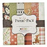 Inselfeld 25 Blätter Scrapbooking Hintergrundpapier Origami Papier Faltpapier Aufkleber Stickers Weihnachtsthema 15 x 15 cm für Handwerk DIY Basteln