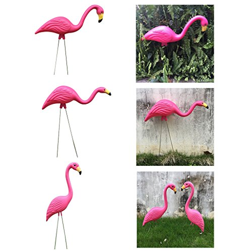 Garden Statues & Sculptures - 3x Looking Up Down Flamingo Home Decor Yard Garden Lawn Figurine Bonsai Diy - Garden Ra Figurin Garden Ornament Mini Rose Beach Wood Melon Cute Net Flamingo Mini &